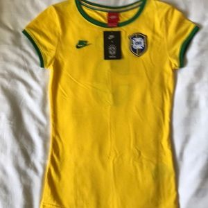 Nike Brazil Soccer team cotton jersey